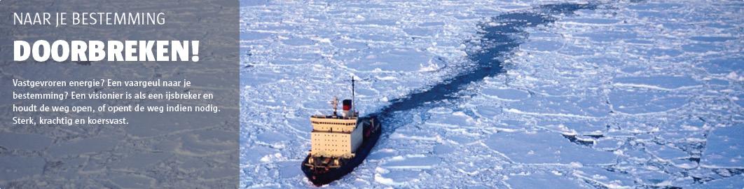 De ijsbreker houdt de weg naar je bestemming open.